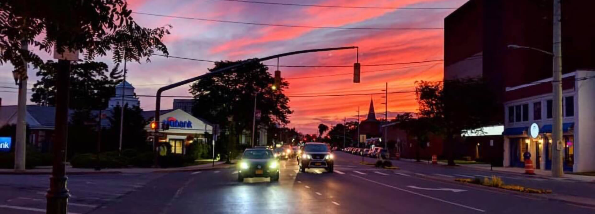 Lynbrook- Merrick Road at Sunset